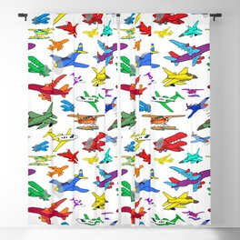 Colorful Airplanes Blackout Curtain