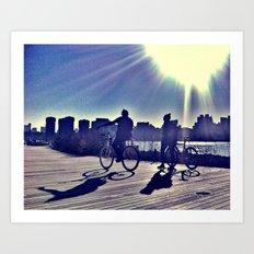 The Cyclists Art Print