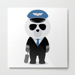 Aviation Bear Metal Print