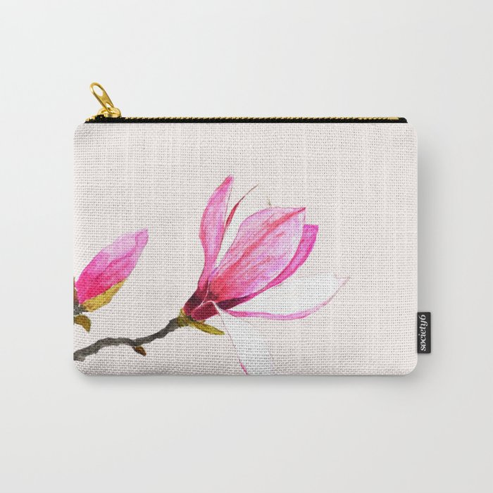 magnolia watercolor painting Carry-All Pouch