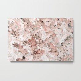 Blush Pink Parsley Foliage Metal Print