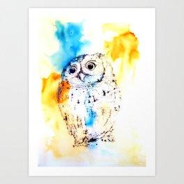 Bark Owl Art Print