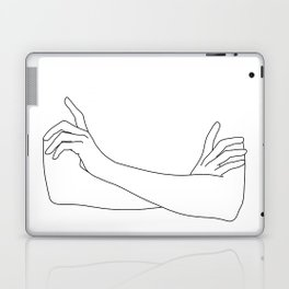Folded arms line drawing illustration - Juno Laptop & iPad Skin