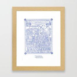 PRINCETON university map NEW JERSEY dorm decor Framed Art Print