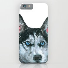 Husky printed from an original painting by Jiri Bures iPhone 6s Slim Case
