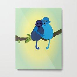 Monkey love Metal Print