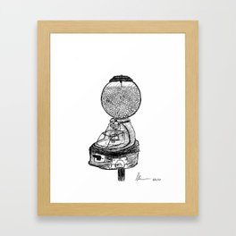 Gumball Machine Framed Art Print