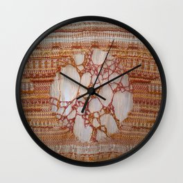 Red Lacework Wall Clock
