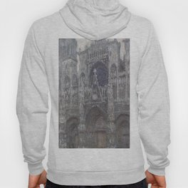 1892-Claude Monet-The Cathedral in Rouen. The portal, Grey Weather-65 x 100 Hoody