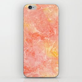 Handpainted watercolor background. Orange and yellow texture iPhone Skin
