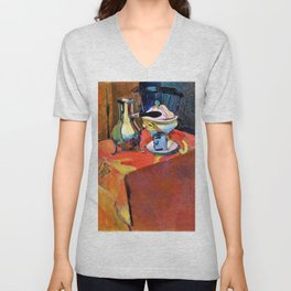 12,000pixel-500dpi - Henri Matisse - Crockery on a Table - Digital Remastered Edition Unisex V-Neck