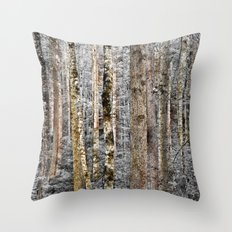 Camo In The Woods Throw Pillow