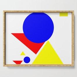 Bauhaus geometric shapes modern art Serving Tray