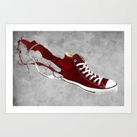 converse Art Prints featuring Converse by Gayle Storm
