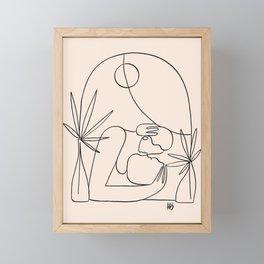 Dreamers no.4 (peach) Framed Mini Art Print