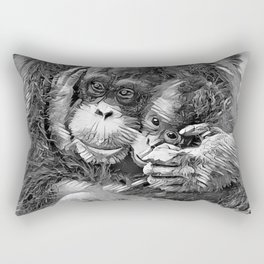AnimalArtBW_OrangUtan_20170603_by_JAMColors-Special Rectangular Pillow