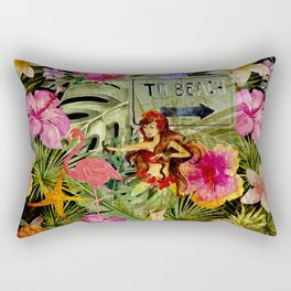 Tropical Vintage Exotic Jungle Beach Party on #Society6 Rectangular Pillow