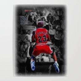 Jordan reverse dunk in oil painting style Poster