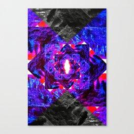 PURPLE DIAMOND Canvas Print