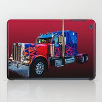 optimus prime iPad Cases featuring Optimus Prime Red by Steve Purnell