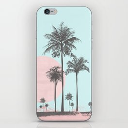Beachfront palm tree soft pastel sunset graphic iPhone Skin