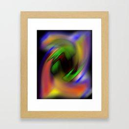 Curves of Color Framed Art Print
