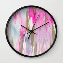 Colorful fluid colors Wall Clock