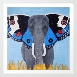 Elephant Wings Art Print