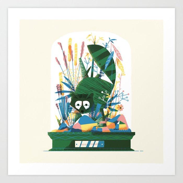 Diorama 2/2 - Happy Camper Art Print