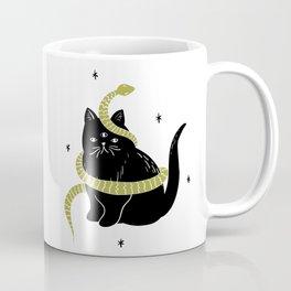 Black Cat Snake Coffee Mug
