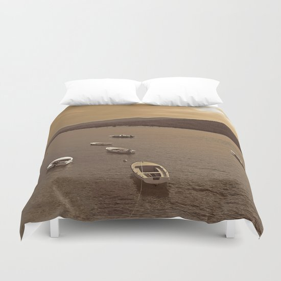 Small Boats Duvet Cover