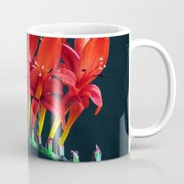 Crocosomia Lucifer Montbretia Red Floral Coffee Mug