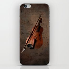 Painting Vintage Violin iPhone Skin