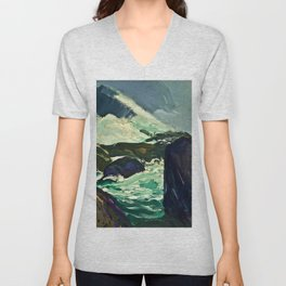 "George Wesley Bellows ""Rock Bound"" Unisex V-Neck"