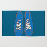 sneakers Area & Throw Rugs featuring Sneakers by Sam Ayres