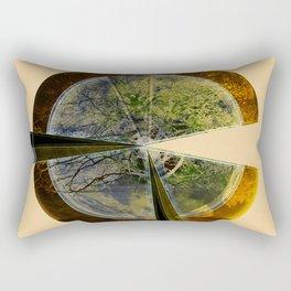 Gold Tree Pac-Man Rectangular Pillow