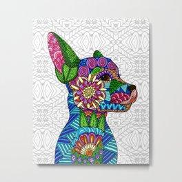 Folk Art Puppy Metal Print