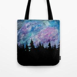 Galaxies and Trees Tote Bag