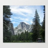yosemite Canvas Prints featuring Yosemite by Angela McCall