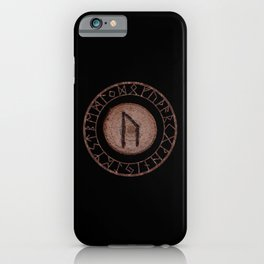 Uruz Elder Futhark Rune determination, persistence, freedom, courage, will, territoriality iPhone Case