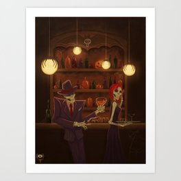 In the Afterlife....Halloween Jazz Art Print