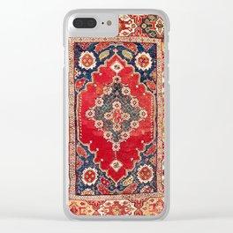 Transylvanian Manisa West Anatolian Niche Carpet Print Clear iPhone Case
