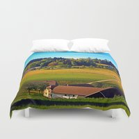 farm Duvet Covers featuring From farm to farm by Patrick Jobst
