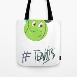 Tennis ball smiley Tote Bag