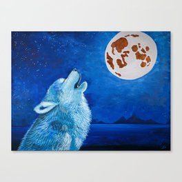 Night Wolf Canvas Print