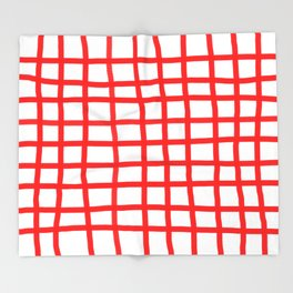 RED GINGHAM Throw Blanket