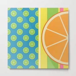 Summer Citrus Party Metal Print