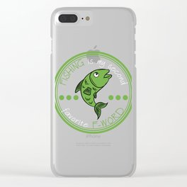 """Fishing is My Second Favorite F Word"" tee design is best for fish-lovers out there and also for you Clear iPhone Case"