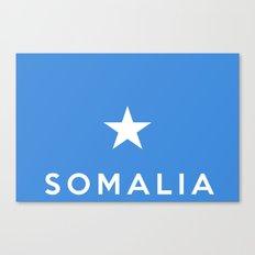 Somalia country flag name text Canvas Print