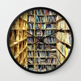 Library of the mind Wall Clock